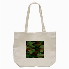 Camouflage Pattern A Completely Seamless Tile Able Background Design Tote Bag (cream) by Simbadda