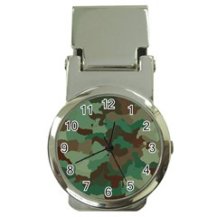 Camouflage Pattern A Completely Seamless Tile Able Background Design Money Clip Watches by Simbadda
