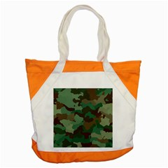 Camouflage Pattern A Completely Seamless Tile Able Background Design Accent Tote Bag by Simbadda