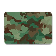 Camouflage Pattern A Completely Seamless Tile Able Background Design Small Doormat  by Simbadda