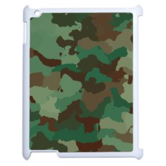 Camouflage Pattern A Completely Seamless Tile Able Background Design Apple Ipad 2 Case (white) by Simbadda