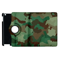 Camouflage Pattern A Completely Seamless Tile Able Background Design Apple Ipad 2 Flip 360 Case by Simbadda