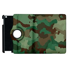 Camouflage Pattern A Completely Seamless Tile Able Background Design Apple Ipad 3/4 Flip 360 Case by Simbadda