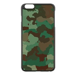 Camouflage Pattern A Completely Seamless Tile Able Background Design Apple Iphone 6 Plus/6s Plus Black Enamel Case by Simbadda