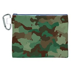 Camouflage Pattern A Completely Seamless Tile Able Background Design Canvas Cosmetic Bag (xxl)