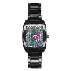 Sunny Roses In Rainy Weather Pop Art Stainless Steel Barrel Watch by pepitasart