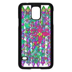 Sunny Roses In Rainy Weather Pop Art Samsung Galaxy S5 Case (black) by pepitasart