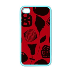 Congregation Of Floral Shades Pattern Apple Iphone 4 Case (color) by Simbadda