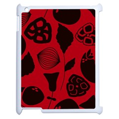 Congregation Of Floral Shades Pattern Apple Ipad 2 Case (white) by Simbadda