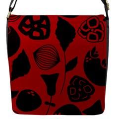 Congregation Of Floral Shades Pattern Flap Messenger Bag (s) by Simbadda
