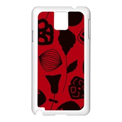 Congregation Of Floral Shades Pattern Samsung Galaxy Note 3 N9005 Case (white) by Simbadda