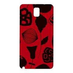 Congregation Of Floral Shades Pattern Samsung Galaxy Note 3 N9005 Hardshell Back Case by Simbadda
