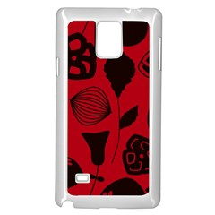 Congregation Of Floral Shades Pattern Samsung Galaxy Note 4 Case (White) by Simbadda