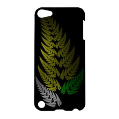 Drawing Of A Fractal Fern On Black Apple Ipod Touch 5 Hardshell Case by Simbadda