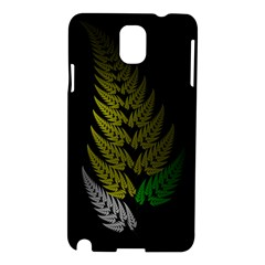 Drawing Of A Fractal Fern On Black Samsung Galaxy Note 3 N9005 Hardshell Case by Simbadda