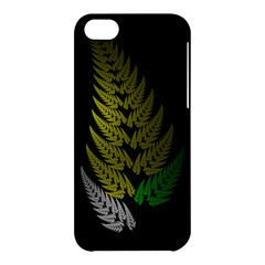 Drawing Of A Fractal Fern On Black Apple Iphone 5c Hardshell Case by Simbadda