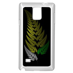 Drawing Of A Fractal Fern On Black Samsung Galaxy Note 4 Case (white) by Simbadda
