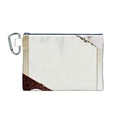 Greeting Card Coffee Mood Canvas Cosmetic Bag (m) by Simbadda