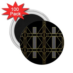 Simple Art Deco Style  2 25  Magnets (100 Pack)  by Simbadda