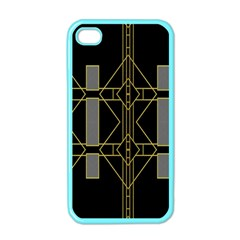 Simple Art Deco Style  Apple Iphone 4 Case (color) by Simbadda