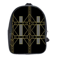 Simple Art Deco Style  School Bags (xl)  by Simbadda