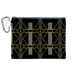 Simple Art Deco Style  Canvas Cosmetic Bag (xl) by Simbadda