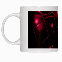 Picture Of Love In Magenta Declaration Of Love White Mugs by Simbadda