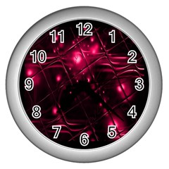 Picture Of Love In Magenta Declaration Of Love Wall Clocks (silver)  by Simbadda