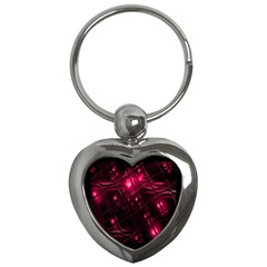 Picture Of Love In Magenta Declaration Of Love Key Chains (heart)  by Simbadda