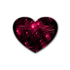Picture Of Love In Magenta Declaration Of Love Heart Coaster (4 Pack)  by Simbadda