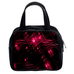 Picture Of Love In Magenta Declaration Of Love Classic Handbags (2 Sides) by Simbadda