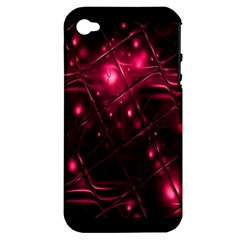 Picture Of Love In Magenta Declaration Of Love Apple Iphone 4/4s Hardshell Case (pc+silicone) by Simbadda