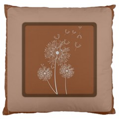 Dandelion Frame Card Template For Scrapbooking Large Cushion Case (two Sides) by Simbadda