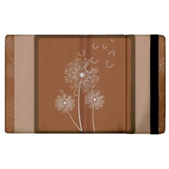 Dandelion Frame Card Template For Scrapbooking Apple Ipad 3/4 Flip Case by Simbadda