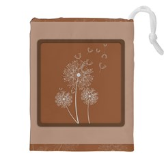 Dandelion Frame Card Template For Scrapbooking Drawstring Pouches (xxl) by Simbadda