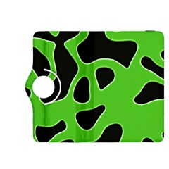 Black Green Abstract Shapes A Completely Seamless Tile Able Background Kindle Fire HDX 8.9  Flip 360 Case