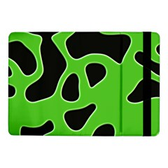 Black Green Abstract Shapes A Completely Seamless Tile Able Background Samsung Galaxy Tab Pro 10 1  Flip Case by Simbadda