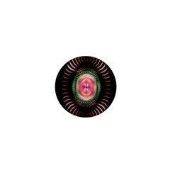 Fractal Plate Like Image In Pink Green And Other Colours 1  Mini Buttons by Simbadda