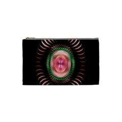 Fractal Plate Like Image In Pink Green And Other Colours Cosmetic Bag (small)  by Simbadda