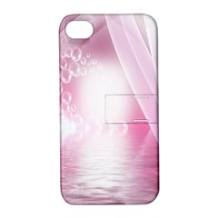 Realm Of Dreams Light Effect Abstract Background Apple Iphone 4/4s Hardshell Case With Stand by Simbadda