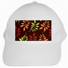 Leaves Wallpaper Pattern Seamless Autumn Colors Leaf Background White Cap by Simbadda