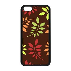 Leaves Wallpaper Pattern Seamless Autumn Colors Leaf Background Apple Iphone 5c Seamless Case (black) by Simbadda