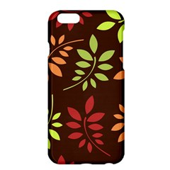 Leaves Wallpaper Pattern Seamless Autumn Colors Leaf Background Apple Iphone 6 Plus/6s Plus Hardshell Case by Simbadda