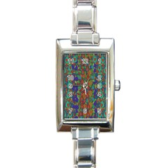 Sea Of Mermaids Rectangle Italian Charm Watch by pepitasart