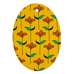 Small Flowers Pattern Floral Seamless Vector Ornament (oval)