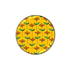 Small Flowers Pattern Floral Seamless Vector Hat Clip Ball Marker by Simbadda