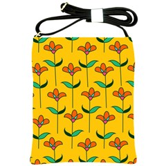 Small Flowers Pattern Floral Seamless Vector Shoulder Sling Bags by Simbadda