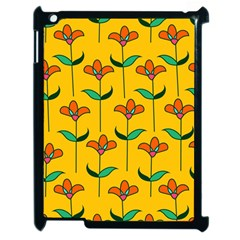 Small Flowers Pattern Floral Seamless Vector Apple Ipad 2 Case (black) by Simbadda