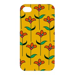 Small Flowers Pattern Floral Seamless Vector Apple Iphone 4/4s Hardshell Case by Simbadda