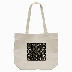 Geometric Line Art Background In Black And White Tote Bag (cream) by Simbadda